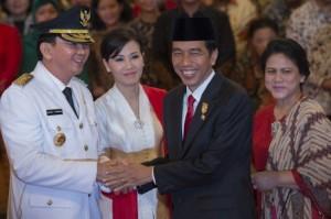 Ahok dan Jokowi pasca pelantikan Ahok