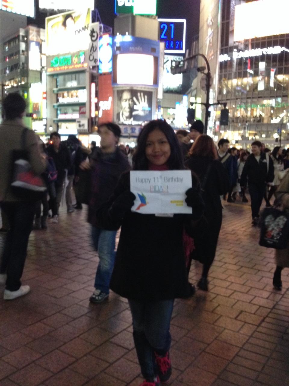 Selamat Ulang Tahun ke 11 PIDAS! Dari Shibuya, Tokyo, Jepang. :)