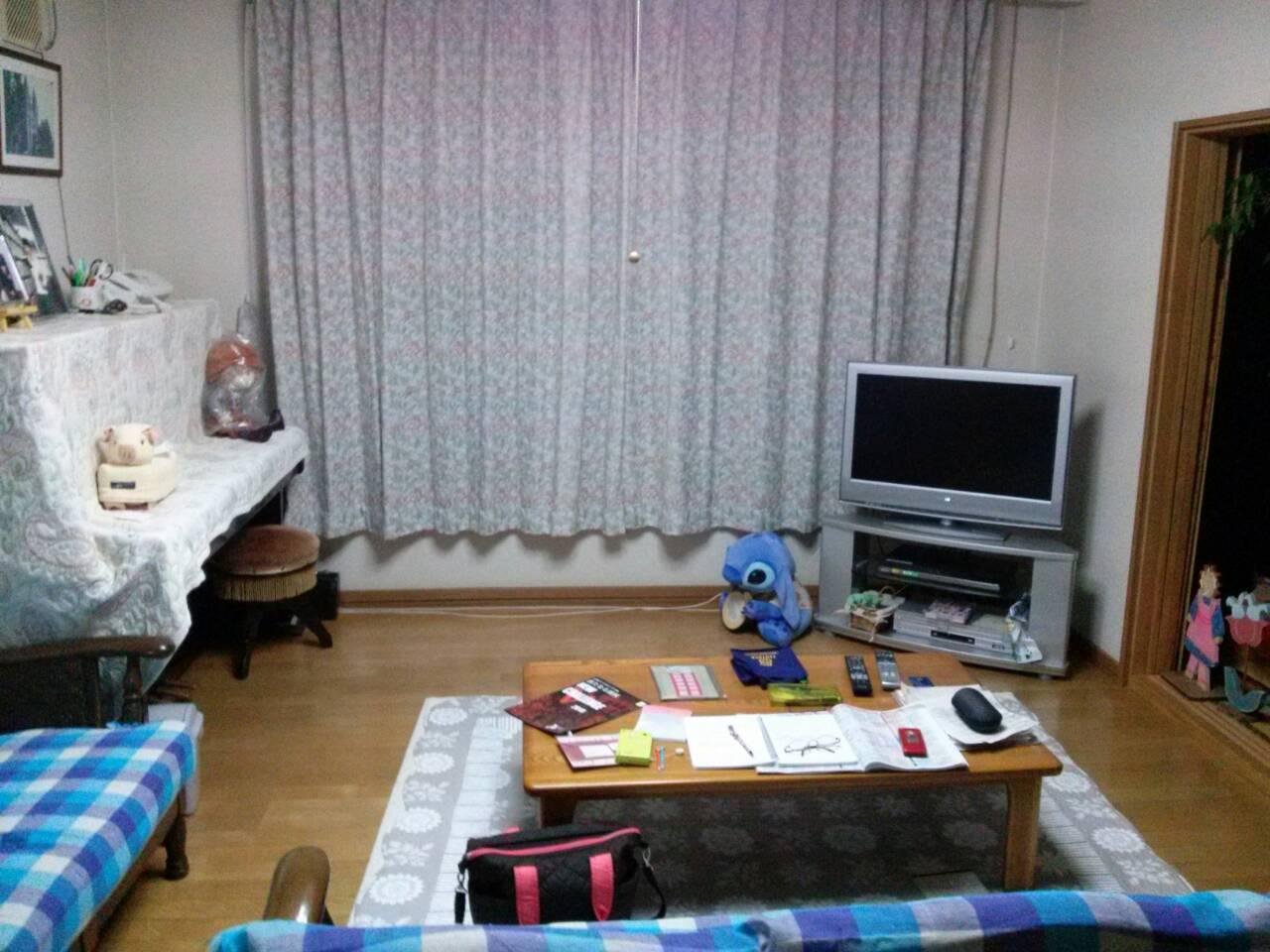 Ruang tamu rumah Suzuki-san