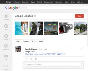 Tampilan Google+