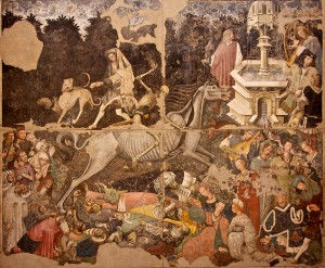 """""""The Triumph of Death"""" mural, Palazzo Abatellis, Palermo - detail"""